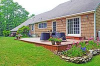 flower border next to deck