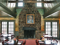 Dinging room with fireplace at the GW Tavern in Washington CT