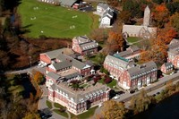 Birds eye view of boarding school in Kent