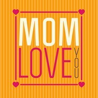 Card saying Mom Love You