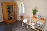 wellness area with infra red sauna